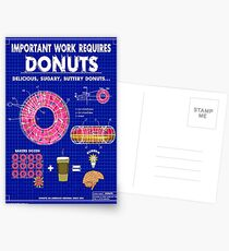Donuts Blueprint Postcards