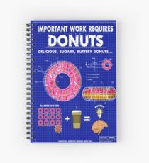 Donuts Blueprint Spiral Notebook