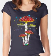 Haight Ashbury - Psychedelic Mushroom Women's Fitted Scoop T-Shirt