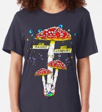 Haight Ashbury - Psychedelic Mushroom Slim Fit T-Shirt