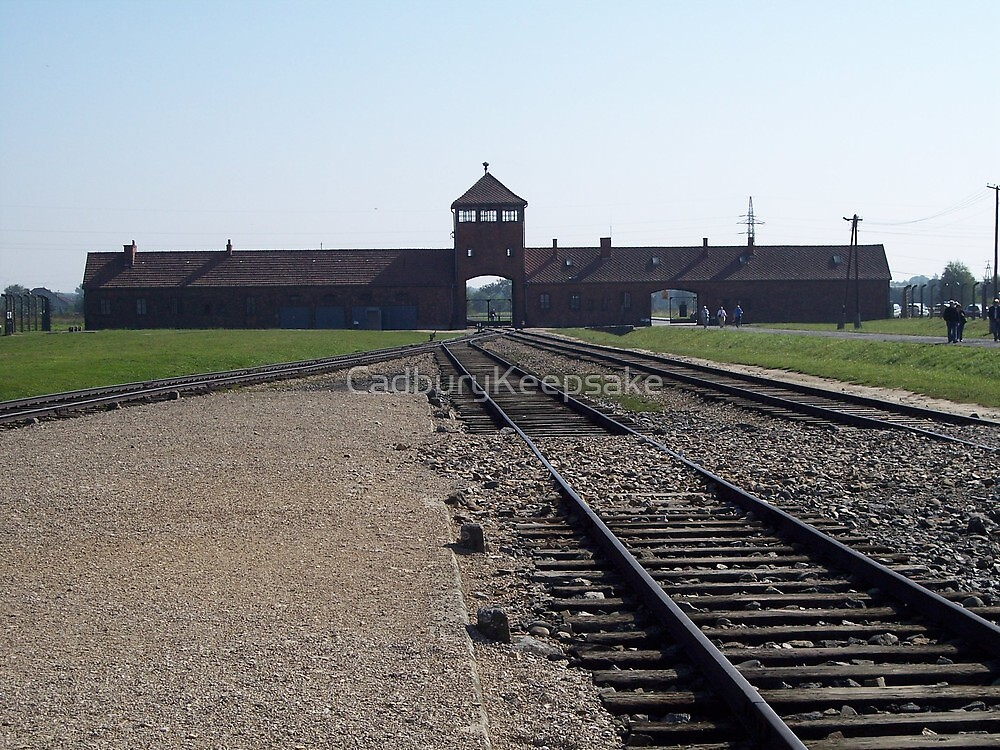 Entrance to Hell (Auschwitz concentration camp) by CadburyKeepsake