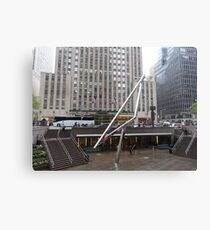 NYC Manhattan Streetscape with Angles Canvas Print