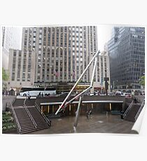 NYC Manhattan Streetscape with Angles Poster