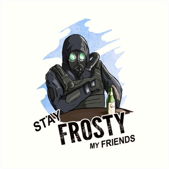 "Counter Strike GO ""Stay Frosty"""" Art Print by llTh3Maskll 