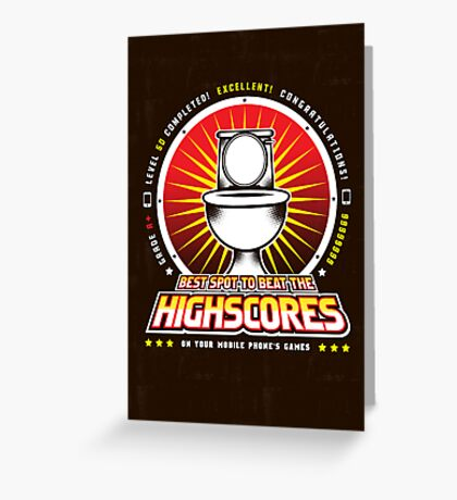 The Highscore Spot  Greeting Card