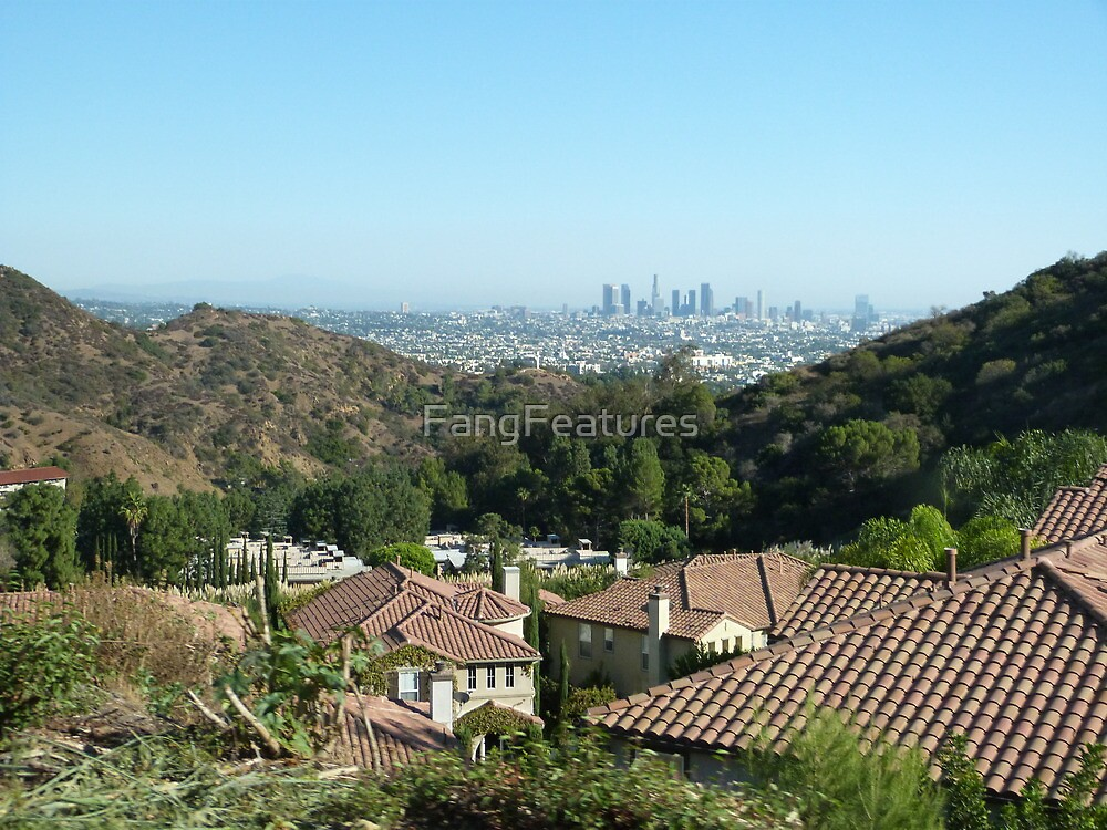 LA from the Hollywood Hills by FangFeatures