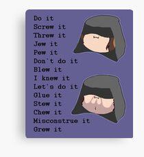 Game Grumps- Do It (Palpatine) Canvas Print