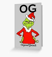 OG Original Grinch  Greeting Card