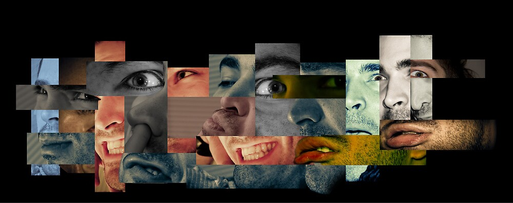 Many Faces Collage by dapedwa