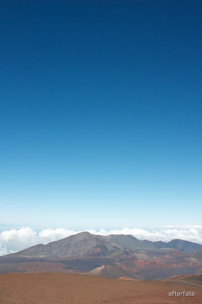Haleakalā crater to the sky by Chris Sauerwald