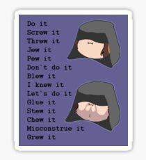 Game Grumps- Do It (Palpatine) Sticker