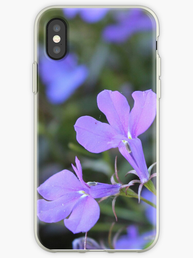 Purple Flower iPhone Case by CageyRabbit