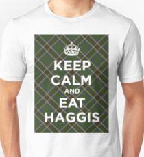 Keep calm, eat haggis Scottish tartan T-Shirt
