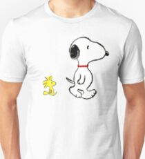 Snoopy and woodstock walking Unisex T-Shirt