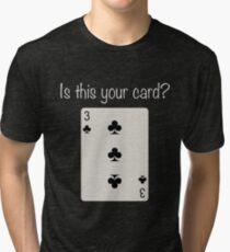 3 of Clubs Tri-blend T-Shirt