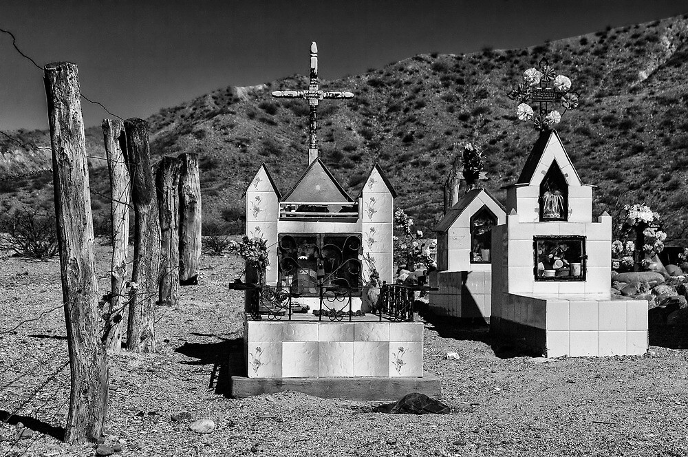 Mountain Cemetery - another view - in monochrome by photograham