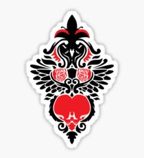 Rose, Skull and Wings Demask Sticker