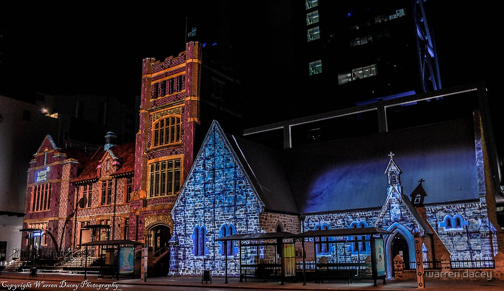 perth lights up buildings  by warren dacey