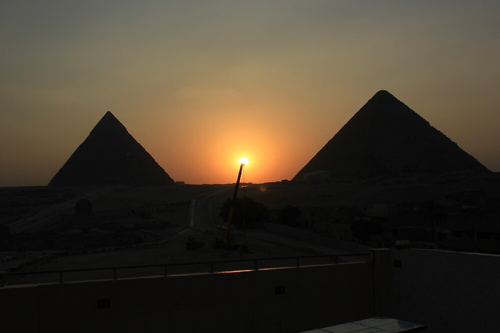 Holding up the sun at Giza by Dave Austin