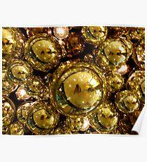 Gold Bubbles Poster