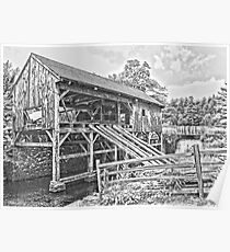 Sturbridge Village Saw Mill Poster