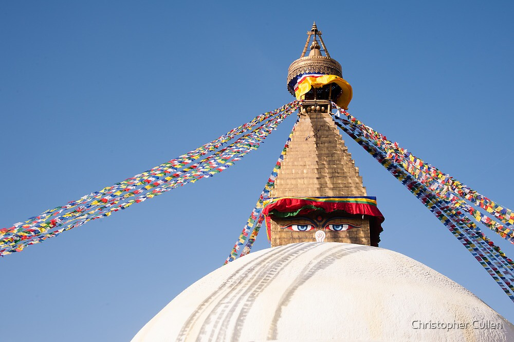 Bodhnath Stupa by Christopher Cullen