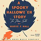 A SPOOKY HALLOWEEN STORY (vintage illustration) by ART INSPIRED BY MUSIC