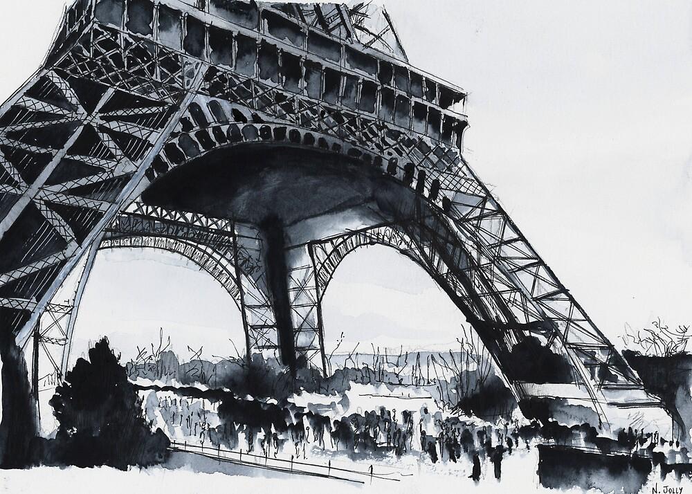 Tour Eiffel - Watercolor by nicolasjolly