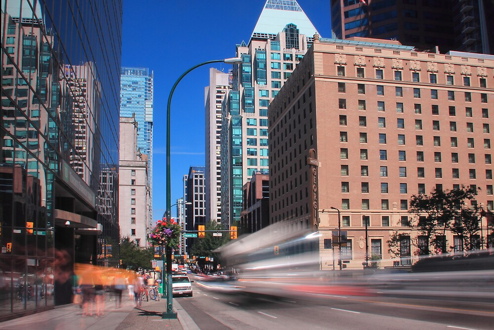 Life's a Blur in the City by Tracy Friesen