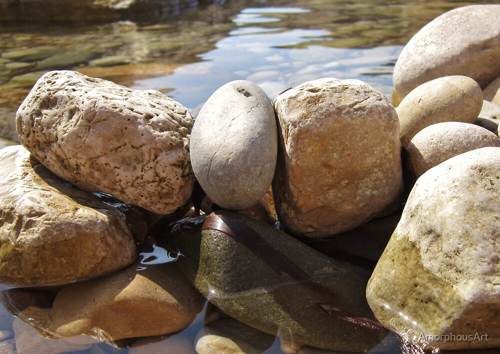 Watered Rocks by AmorphousArt