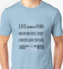 We Live and Breathe Words (Blue) T-Shirt