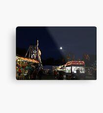 Carnival and Moon Metal Print