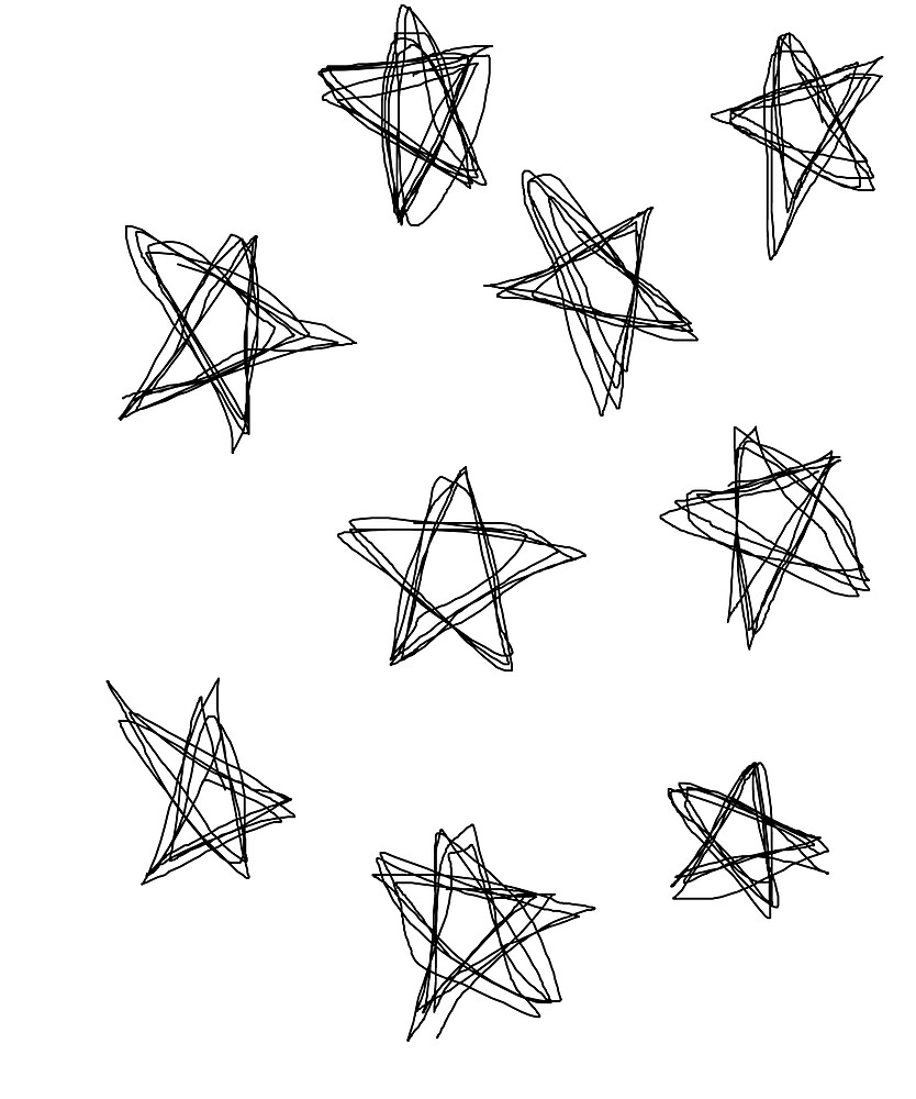 Doodle scribble stars by Lyddalek