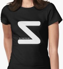 Synergist Logo Tee (white S) Women's Fitted T-Shirt