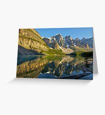 Moraine Lake Reflections Greeting Card
