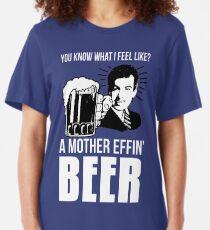 Camiseta ajustada Una cerveza madre Effin '