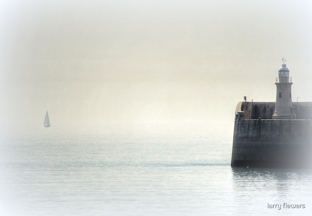 Early Morning sea mist  by larry flewers