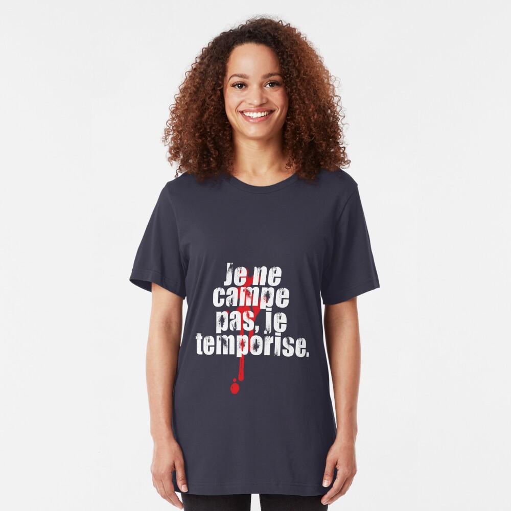 Je ne campe pas. Camiseta ajustada