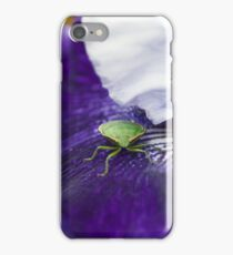 Blue Iris & Green Stink Bug iPhone Case/Skin