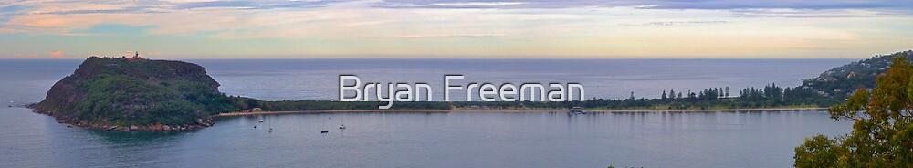 Tombolo - Palm & Station Beaches - Panorama   Sydney   NSW   AUSTRALIA by Bryan Freeman