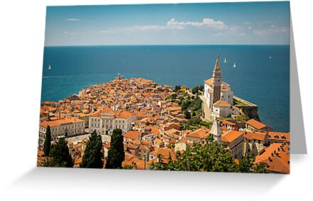 Piran in the sun by Maciej Nadstazik