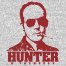 Mr Hunter S. Thompson (Red print) by Jarrod Knight