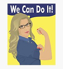 Felicity Can Do It! Photographic Print