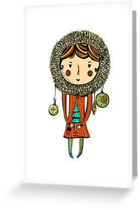 Chistmas tree girl by elenavadi