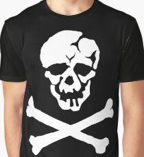 Skull Squadron (white skull) Graphic T-Shirt