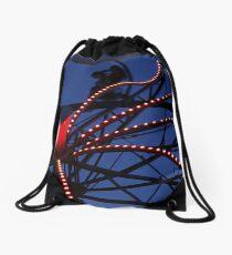 Carnival Ride Abstract Drawstring Bag