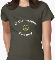Feeney Surname - Dark Shirts with Claddagh Women's Fitted T-Shirt