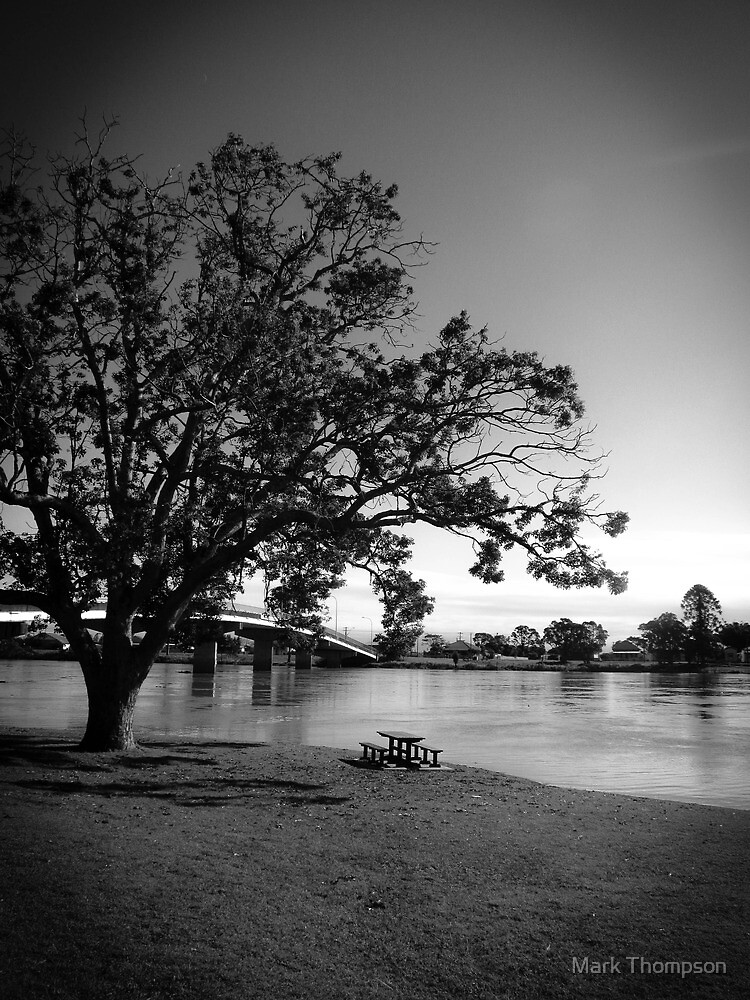 Sitting by the river by mark thompson