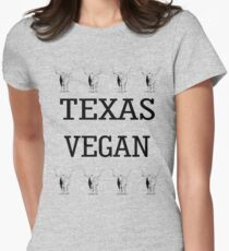 Texas Vegan Womens Fitted T-Shirt
