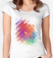 Apophysis Fractal Design - Enhanced Rainbow Flower  Women's Fitted Scoop T-Shirt